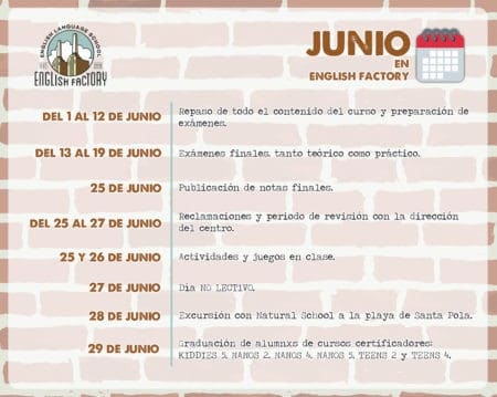 Así es junio en English Factory